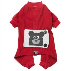 Teddy Bear PJs in Red