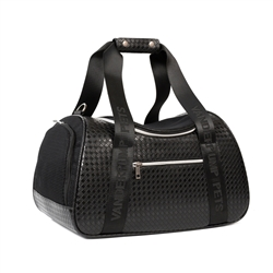 Vanderpump Graphite Duffel Pet Carrier - Black