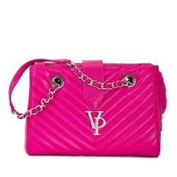 Vanderpump Pink Monogramme Chain Pet Carrier