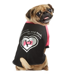VP Pets Beverly Hills Tee - Pink/Black