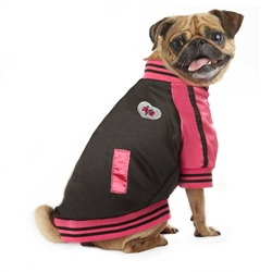VP Pets Pink Windbreaker Baseball Jacket