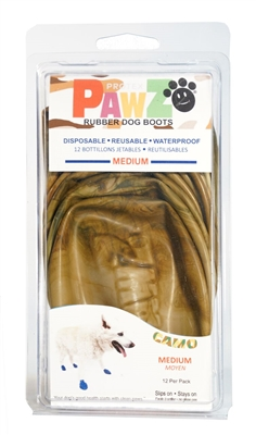 PawZ Camo Rubber Dog Boots