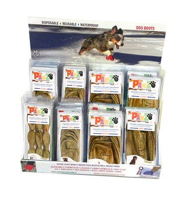 Pawz Pre-Packed Camo Counter-Top Display - 28 Pc