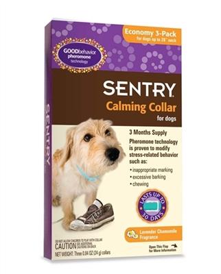 SENTRY CALMING COLLAR DOG 3PK
