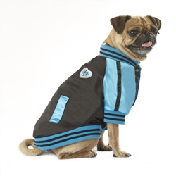 VP Pets Blue Windbreaker Baseball Jacket