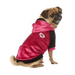 VP Pets Pink/Black Fleece Hoodie