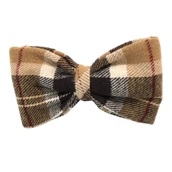 London Plaid Cotton Flannel Bowties