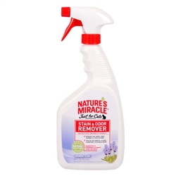 NATURE'S MIRACLE JUST FOR CATS STAIN & ODOR REMOVER LAVENDER SCENT, 32OZ
