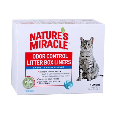 NATURE'S MIRACLE LITTER PAN LINERS, LARGE 7CT