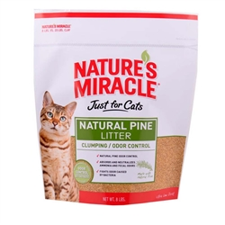NATURE'S MIRACLE NATURAL PINE CLUMPING LITTER 8LB