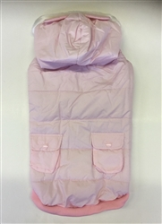 HOODED COAT W/EARS LIGHT PINK