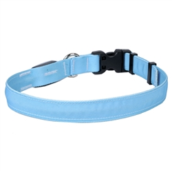 Solid Light Blue ORION LED Dog Collar