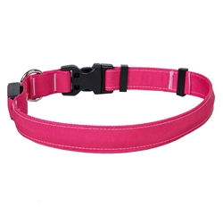 Solid Magenta ORION LED Dog Collar