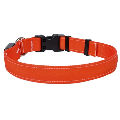 Solid Orange ORION LED Dog Collar