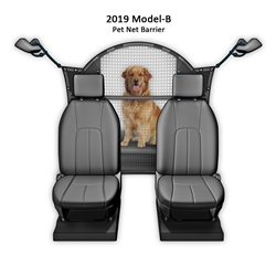 "Pet Net Vehicle Safety Barrier for SUV / Car / Truck / Van - fits behind front seats 51"" W"