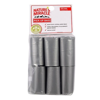 NATURES MIRACLE ADVANCED 6 ROLL REFILL PICK UP BAGS 90BAGS