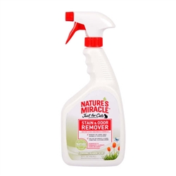NATURE'S MIRACLE JUST FOR CATS STAIN & ODOR REMOVER FLOWERING MEADOW SCENT, 32OZ