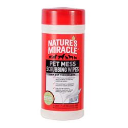NATURE'S MIRACLE PET MESS SCRUBBING WIPES 30CT