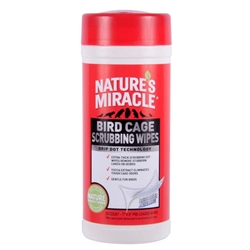 NATURE'S MIRACLE BIRD  CAGE SCRUBBING WIPES 30CT