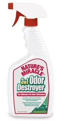 NATURES MIRACLE 3IN1 ODOR DESTROYER MOUNTAIN FRESH SCENT TRIGGER SPRAY 24OZ