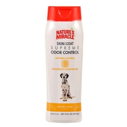 NATURE'S MIRACLE SUPREME ODOR CONTROL NATURAL OATMEAL SHAMPOO/CONDITIONER 32OZ