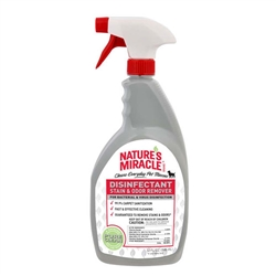 NATURE'S MIRACLE DISINFECTANT STAIN & ODOR REMOVER DOG 32OZ