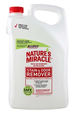 NATURE'S MIRACLE STAIN AND ODOR REMOVER 1.33 GALLON REFILL BOTTLE