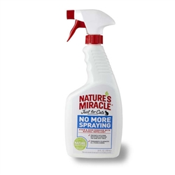 NATURES MIRACLE JUST FOR CATS NO MORE SPRAYING STAIN & ODOR REMOVER TRIGGER SPRAY 24OZ