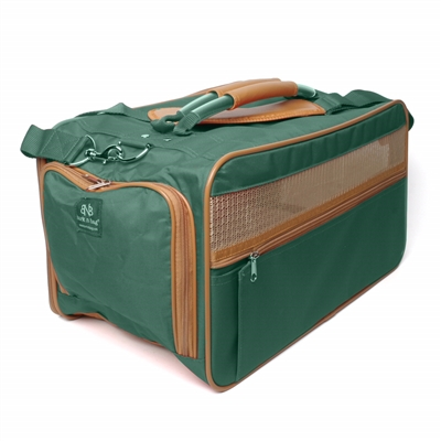 Hunter Green/Saddle Classic Carrier Large