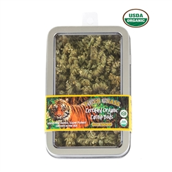 Tiger Grass Buds Organic Catnip Airtight Window Tins