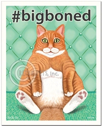 #bigboned - 8x10 Cat Art Print