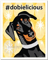 #dobielicious - 8x10 Doberman Art Print