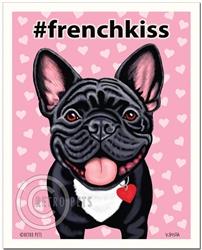 #frenchkiss - 8x10 French Bulldog Art Print