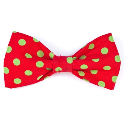Bow Tie - Red/Green Dots