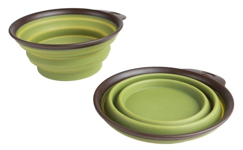 Mighty Mutz Collapsible Travel Bowl, 12-Ounce, Green
