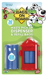 Bags On Board Fire Hydrant Dispenser With Bags 30Ct