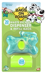 Bags On Board  Bone Dispenser With Bags 30Ct (4 color options)