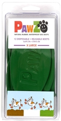 PAWZ DOG BOOTS EXTRA LARGE GREEN