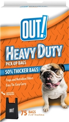 OUT! Heavy Duty Extra Thick Dog Waste Bags, 6x10 in, 75 bags
