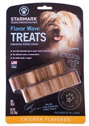 STARMARK FLAVOR WAVE CHICKEN FLAVORED DOG TREAT 3OZ.