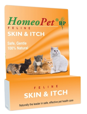 HOMEOPET FELINE SKIN & ITCH BOTTLE 15ML