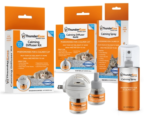 ThunderEase Multi-Cat Calming Diffuser Kit W/1 Refill