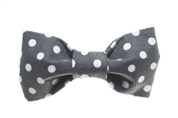 Bow Tie - Grey/White Dots