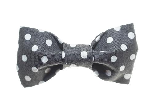 Bow Tie - Grey/White Dots