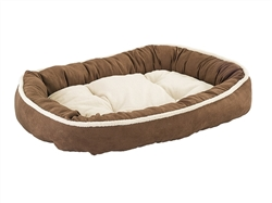 """Ethical Pet Shearling Oval Cuddler 31"""" Chocolate"""