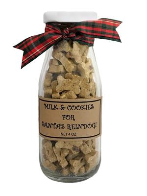 Milk & Cookies for Santa's Reindog