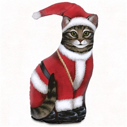 Santa Claus Cat Doorstop