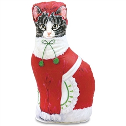 Mrs. Claus Cat Doorstop