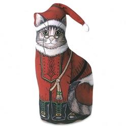 Grandfather Claus Cat Doorstop