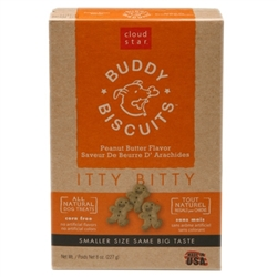 Cloud Star Original Itty Bitty Buddy Biscuits with Peanut Butter Dog Treats, 8-oz. box